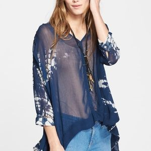 Free People Tie Me Down Blouse Top - NWOT